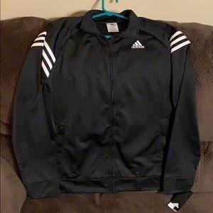 Adidas warmup jacket NWT Boys XL (18-20) Black